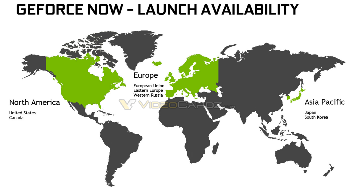 GeForce NOW availability