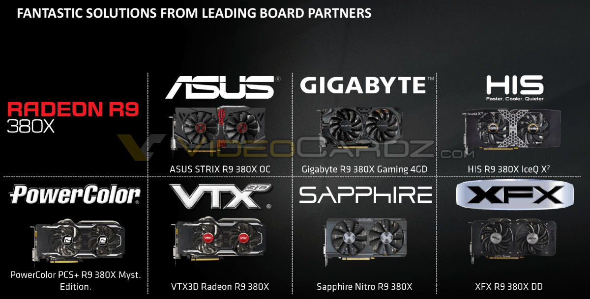 AMD launches Radeon R9 380X | VideoCardz com