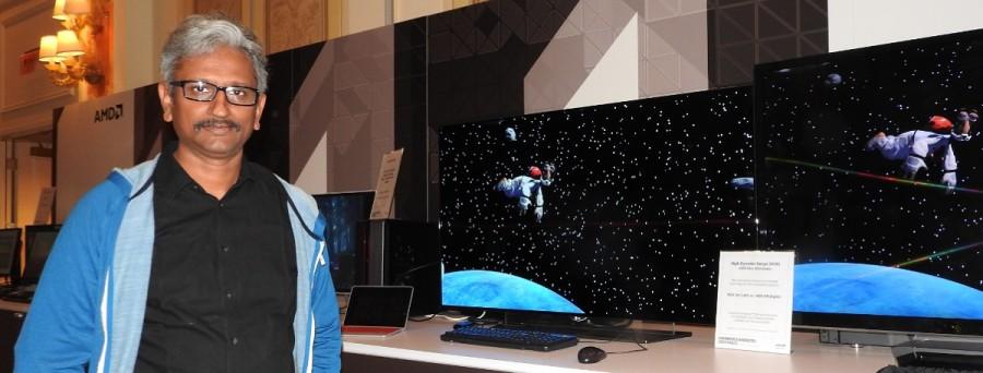 AMD Raja Koduri showcasing Polaris