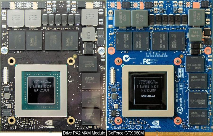NVIDIA Drive PX 2 MXM vs GTX 980M
