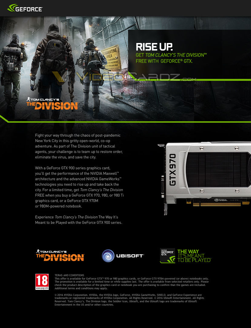The Division Free with NVIDIA GeForce