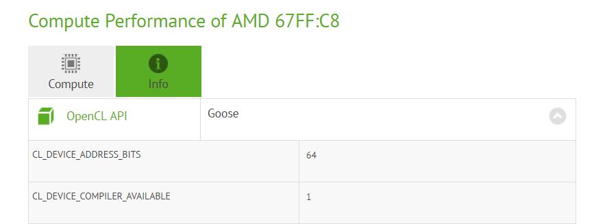 AMD Polaris 11 67FF-C8 GPU