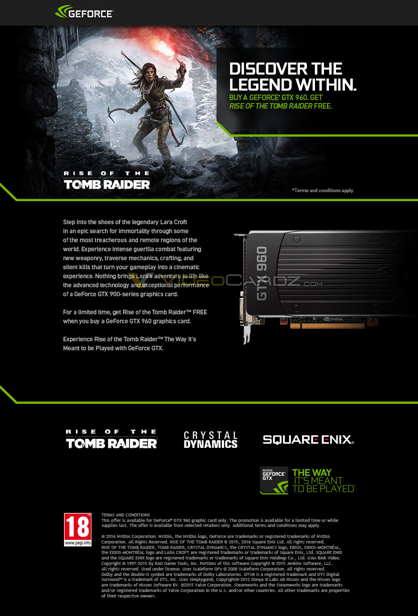 NVIDIA GeForce GTX 960 Tomb Raider Promotion