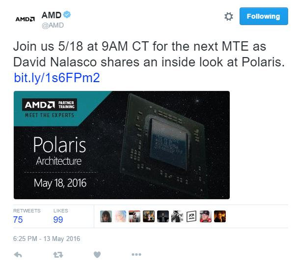 AMD Polaris MTE Twitter
