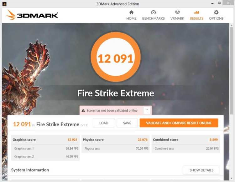 NVIDIA GeForce GTX 1080 OC FireStrike Extreme