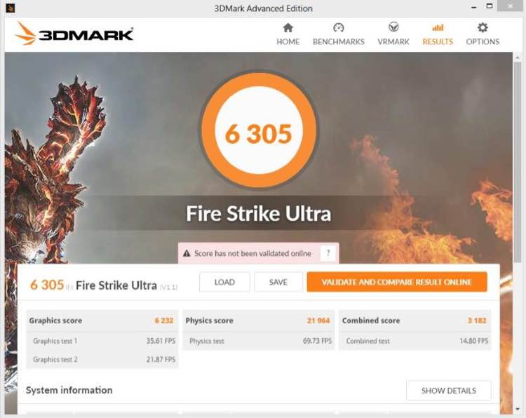 NVIDIA GeForce GTX 1080 OC FireStrike Ultra