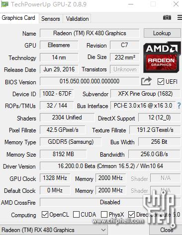 AMD RX 480 GPUZ2