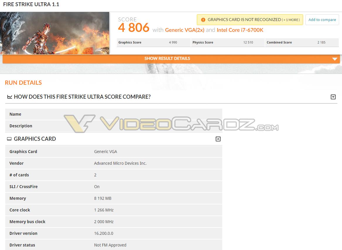 AMD Radeon RX 480 CrossFire 3DMark Performance | VideoCardz com