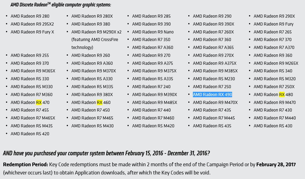 AMD Radeon RX 490 listed on AMD website | VideoCardz com