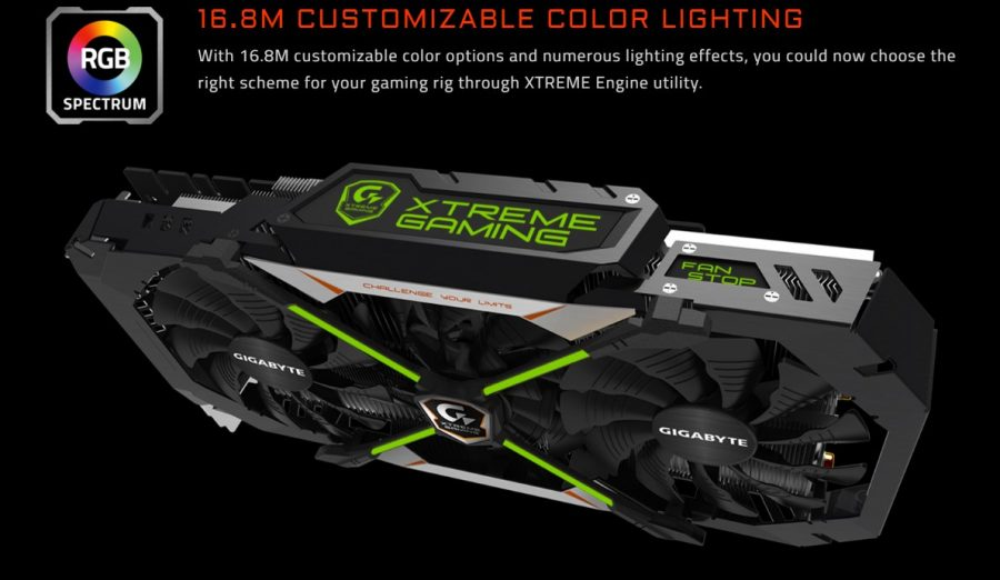 GeForce GTX 1080 Xtreme Gaming XTREME LEDs