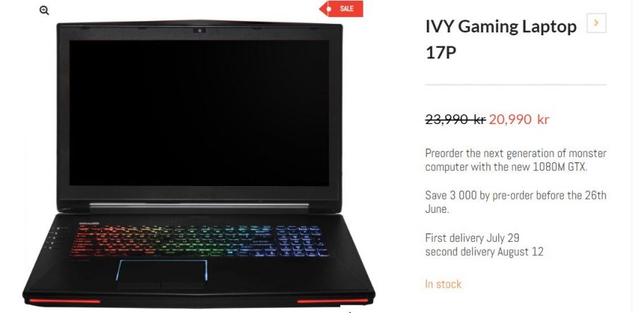 IVY Gaming Laptop 17P with GTX 1080M
