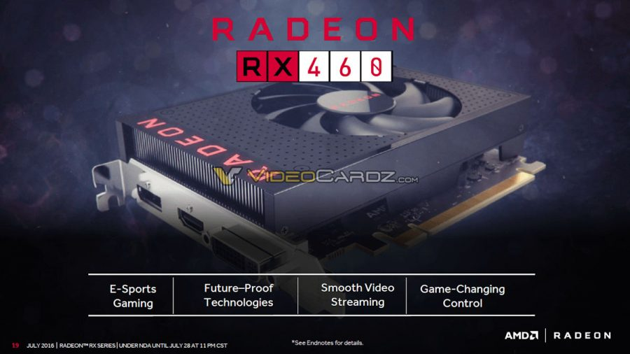 AMD Radeon RX 460 (showcase)