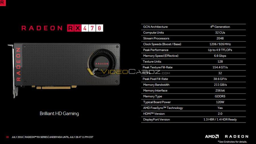 AMD Radeon RX 470 (full specs)