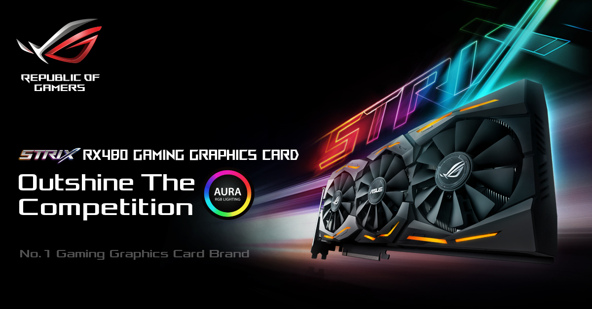 ASUS ROG Announces STRIX Radeon RX 480, available mid-August