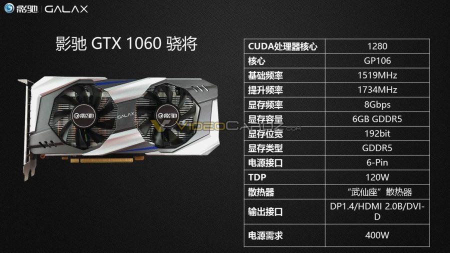 GALAXY GeForce GTX 1060