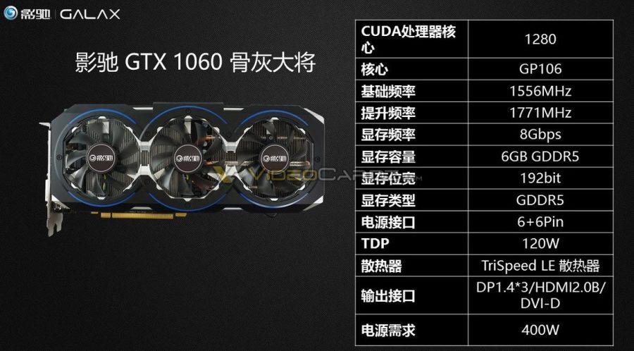 GALAXY GeForce GTX 1060 Ashes general