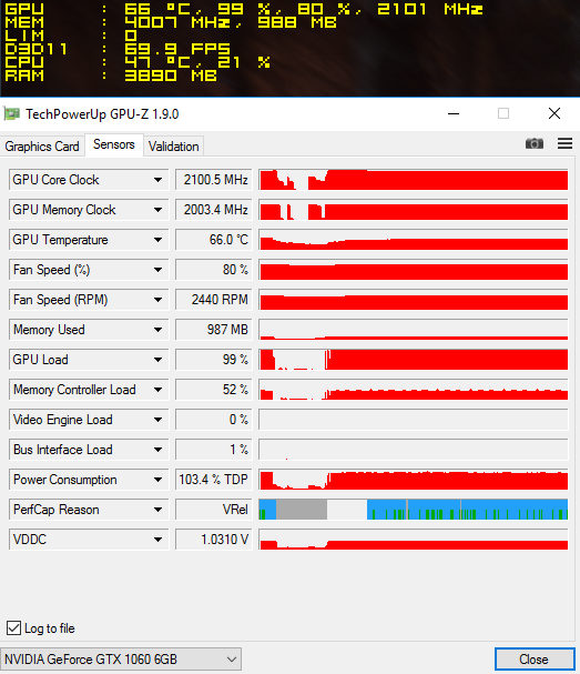 msi gtx 1060 6g toc overclocking