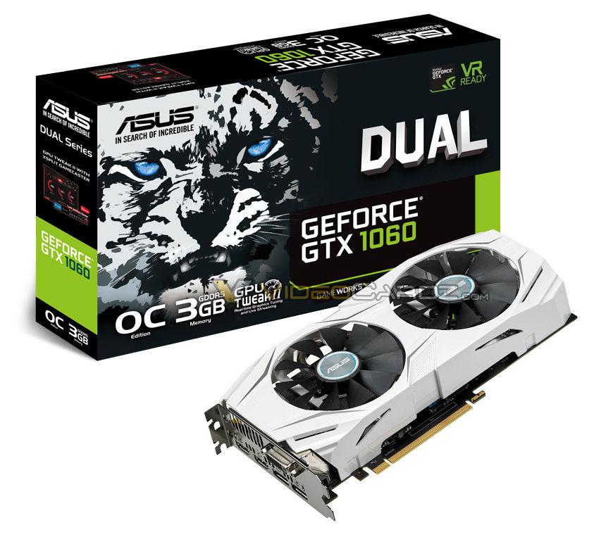 ASUS GTX 1060 DUAL 3GB OC