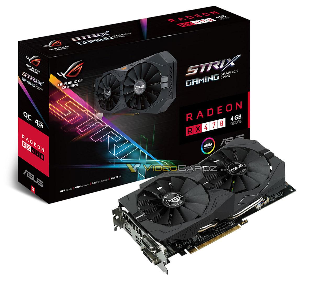 ... STRIX RX 470, Gigabyte RX 470 G1 Gaming, XFX RX 470 Black pictured