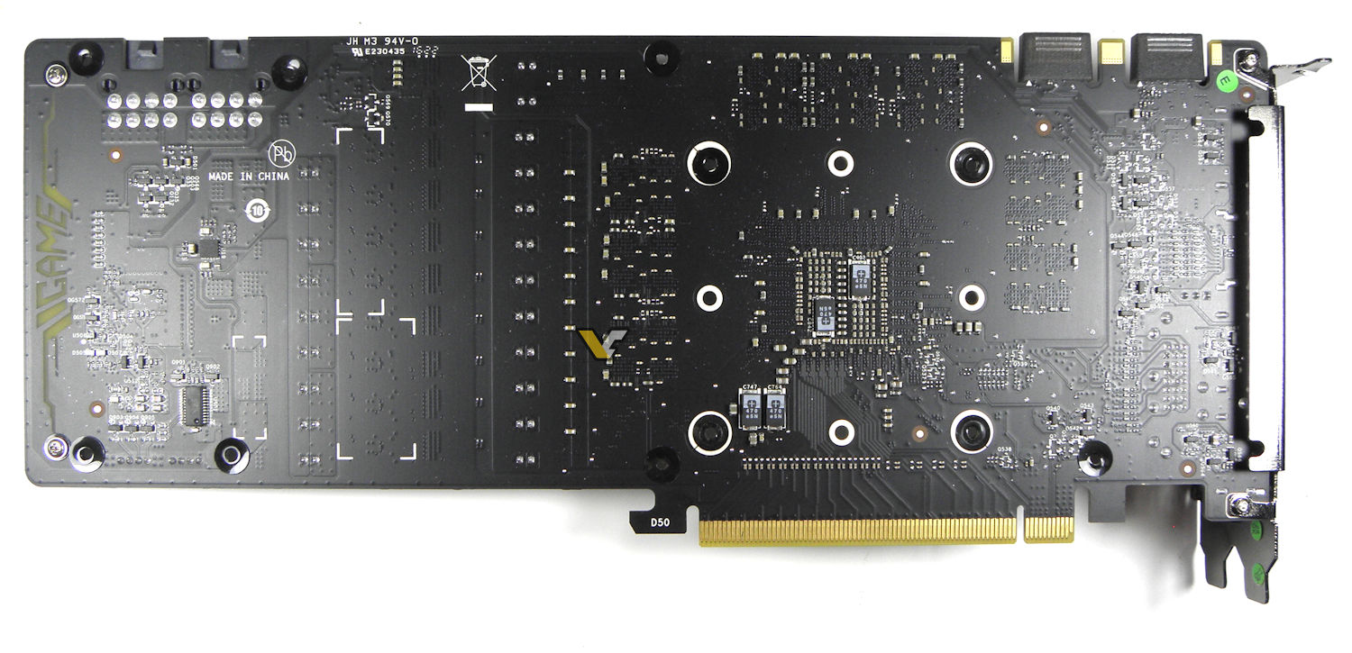 Colorful Gtx Igame Xtop Pcb Back on Thermal Cooler