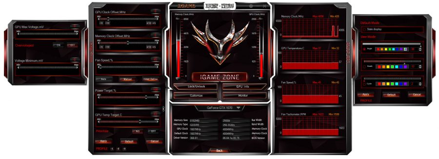 Colorful iGame Overclocking tool