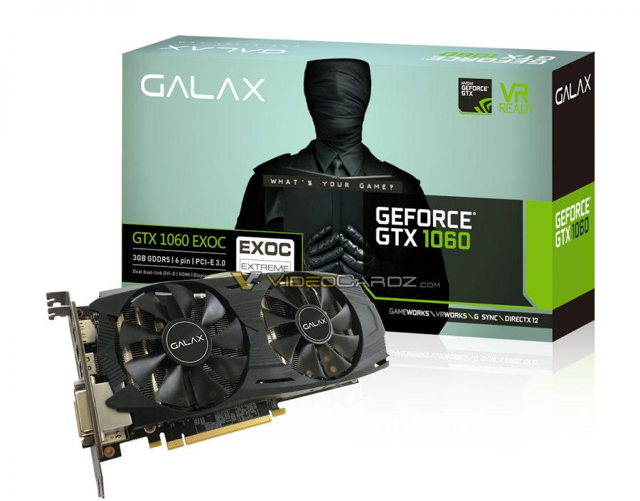 GALAX GTX1060 BOX+Card_EXOC_3GB