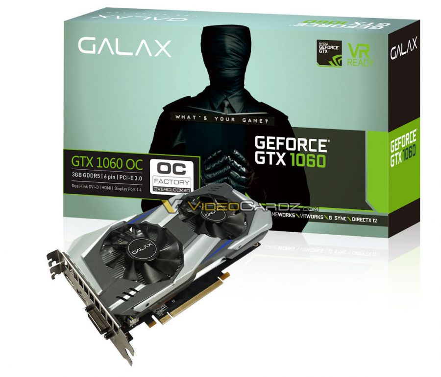 GALAX GTX1060_OC_3GB_BOX+Card