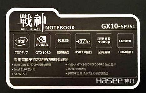 Hasee GX10