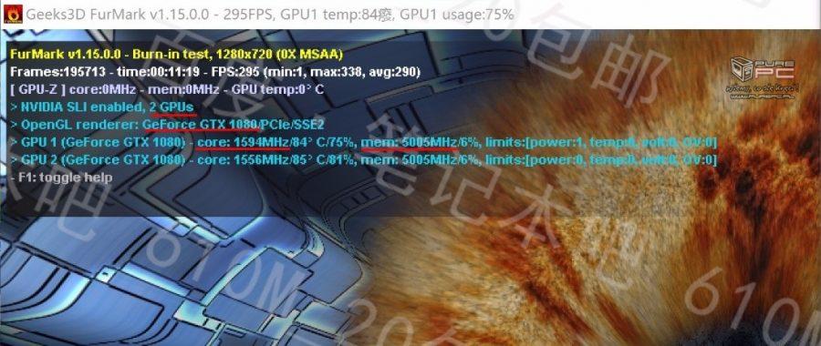 NVIDIA GTX 1080 Mobile (Furmark)