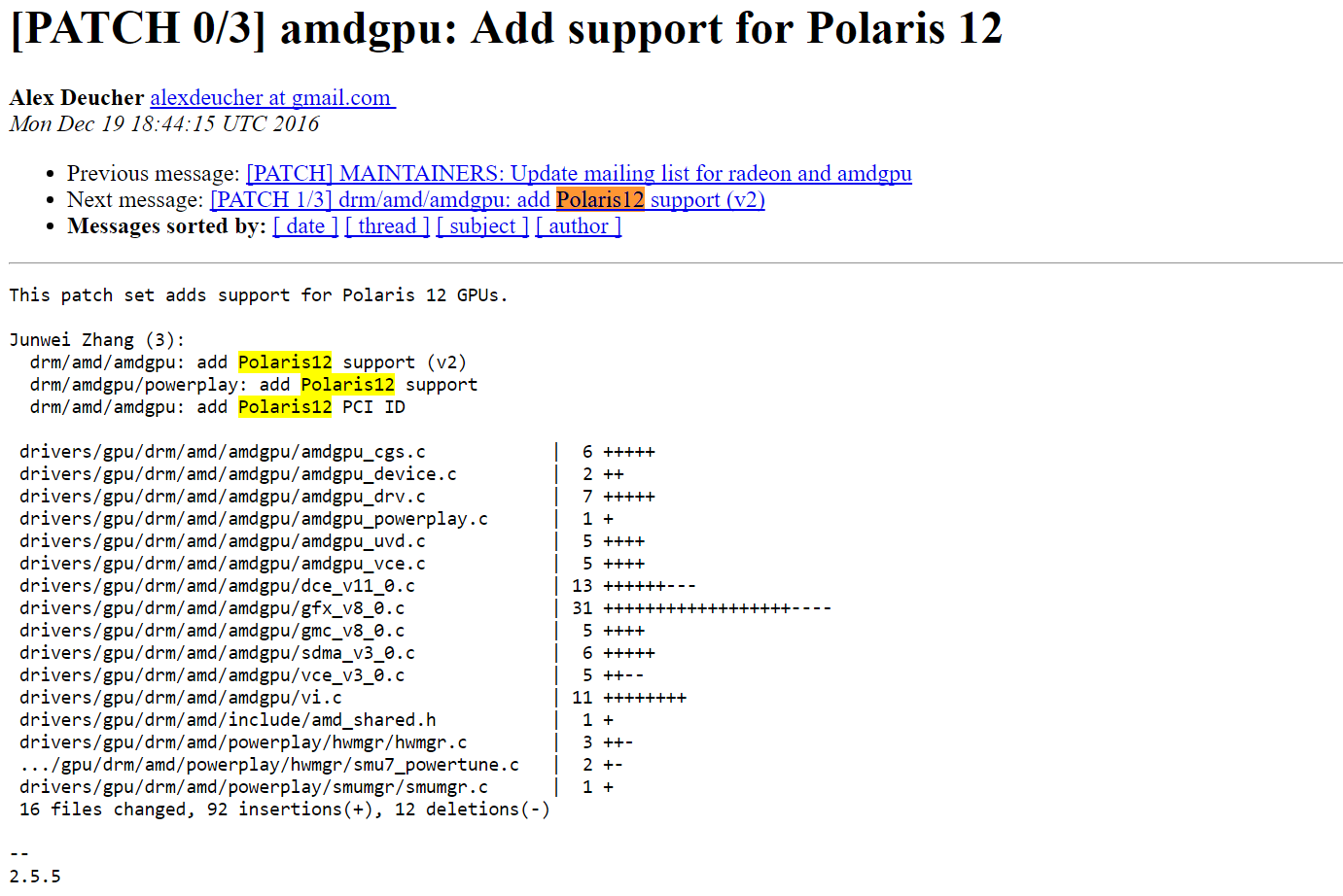 AMD Polaris 12 spotted in Linux patches | VideoCardz com