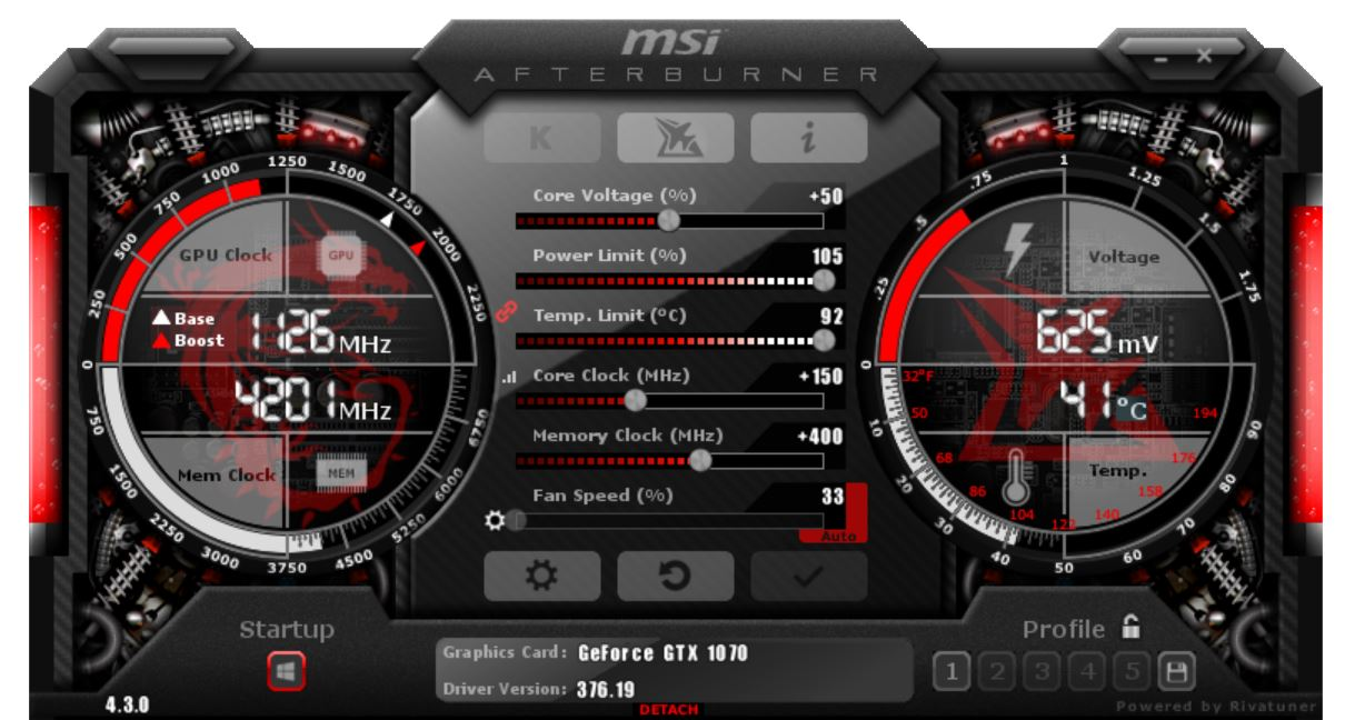 MSI GeForce GTX 1070 SEA HAWK X Review - Overclocking - VideoCardz com