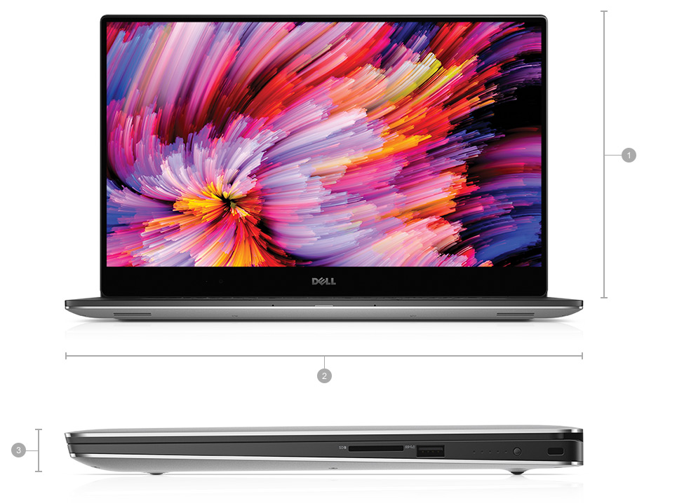 DELL XPS 15 9560 features GeForce GTX 1050 series card with