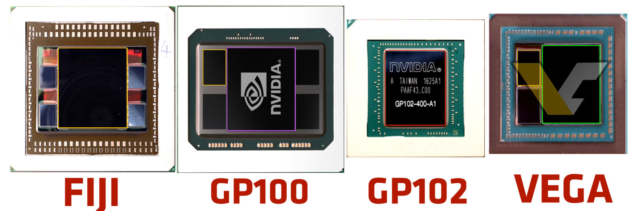 AMD VEGA GPU Pictured Features Two HBM2 Stacks