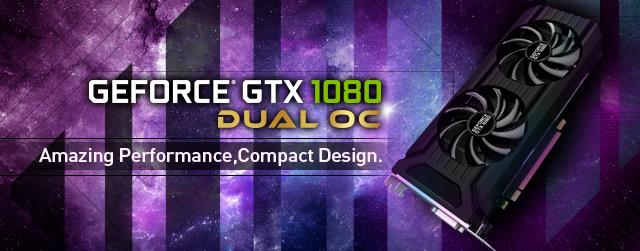Palit introduces GeForce GTX 1080 Dual OC Edition