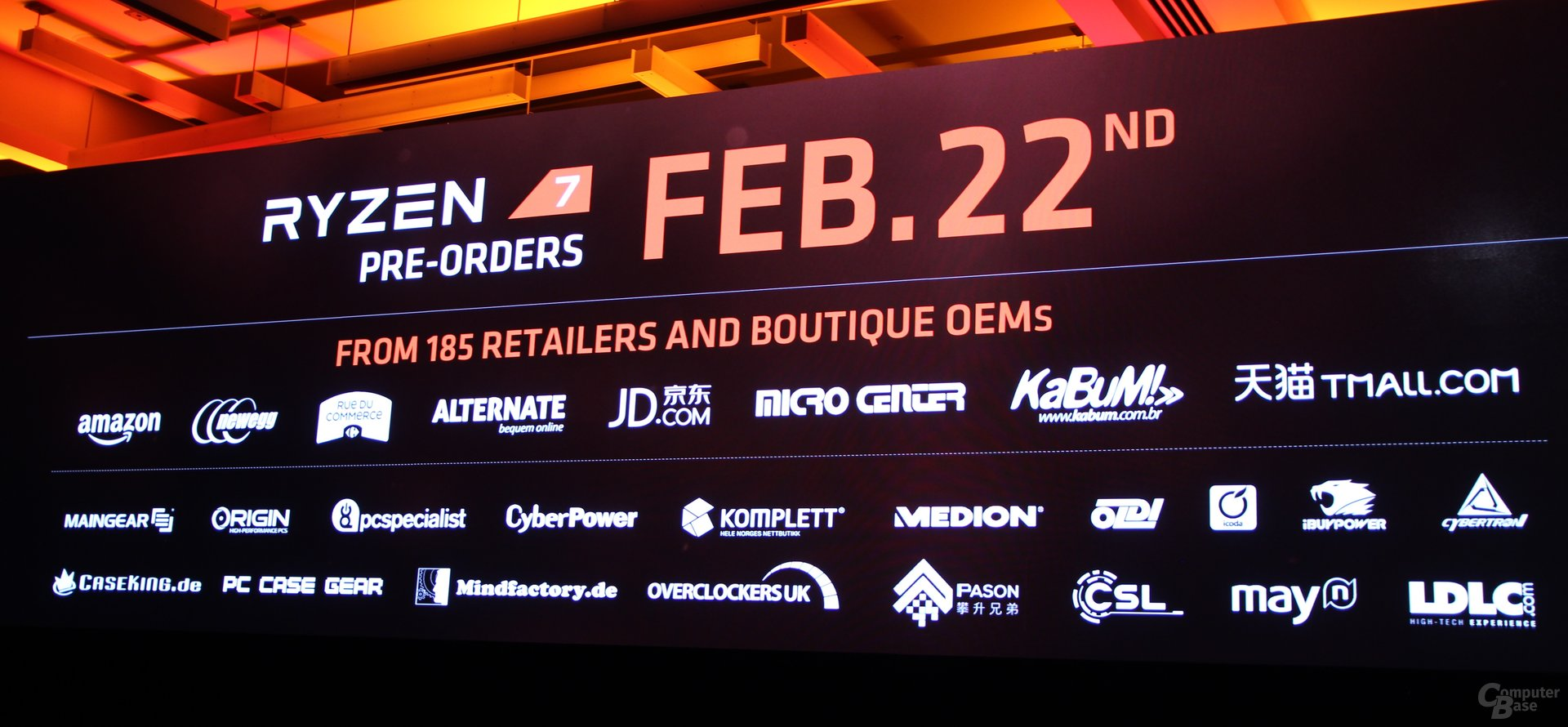 AMD announces Ryzen 7 1800X, 1700X and 1700, preorders start