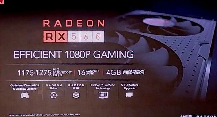 AMD Radeon RX 500 series official specifications and performance