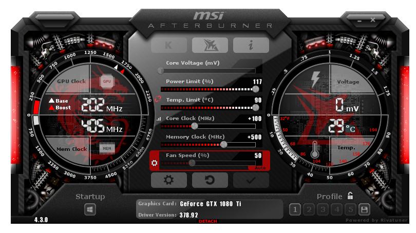 MSI GeForce GTX 1080 Ti GAMING X Review - Overclocking @@ MSI