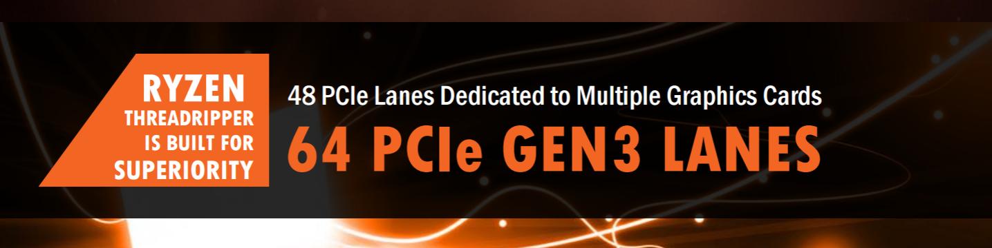 AMD Ryzen Threadripper with 64 PCIe lanes | VideoCardz com
