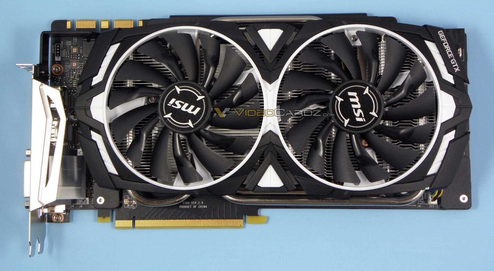 Msi Geforce Gtx 1080 Ti Armor Review Videocardz Com