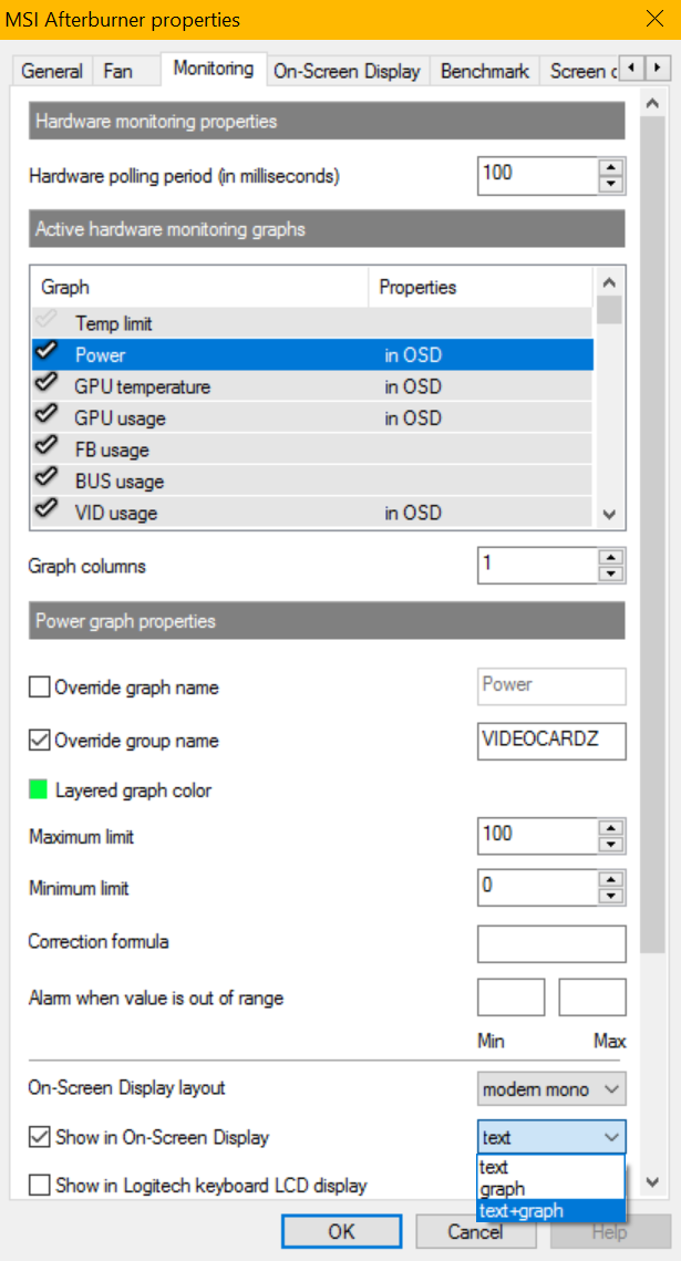 MSI Afterburner 4 4 0 Beta 11 will now plot graphs | VideoCardz com