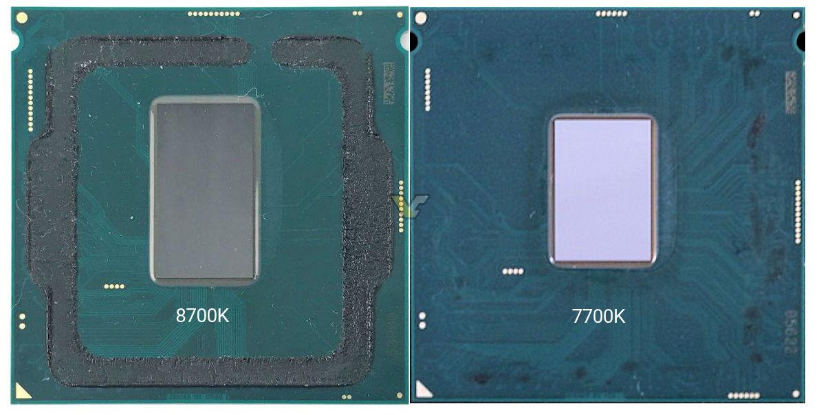 Intel Core I7 8700k Delidded Videocardz Com
