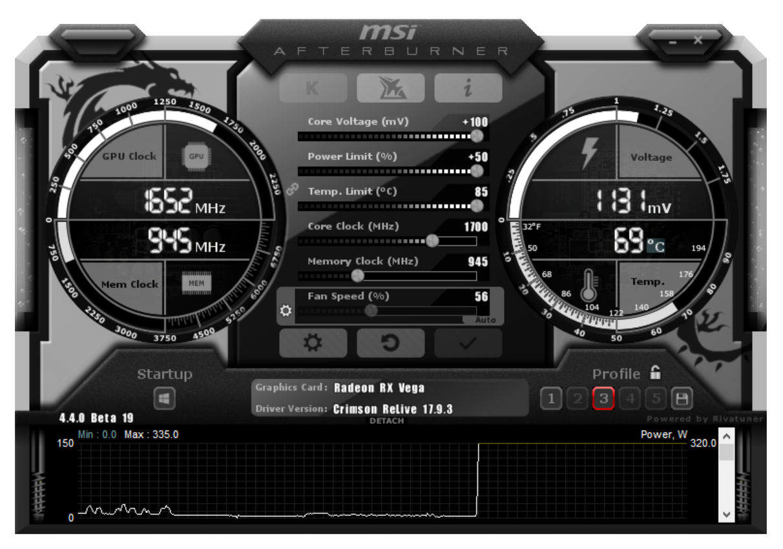 MSI Afterburner Beta gets voltage control for RX Vega and
