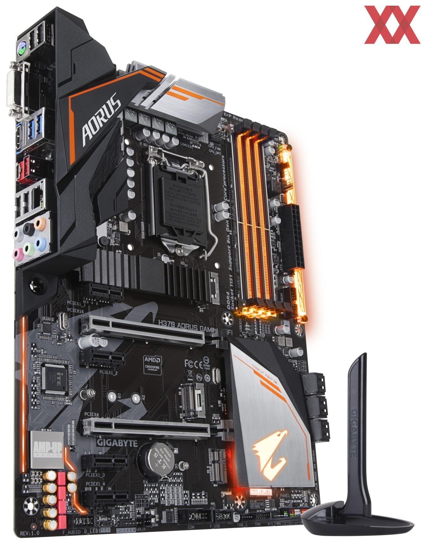 GIGABYTE H370 AORUS Gaming 3 (WiFi) motherboard has been