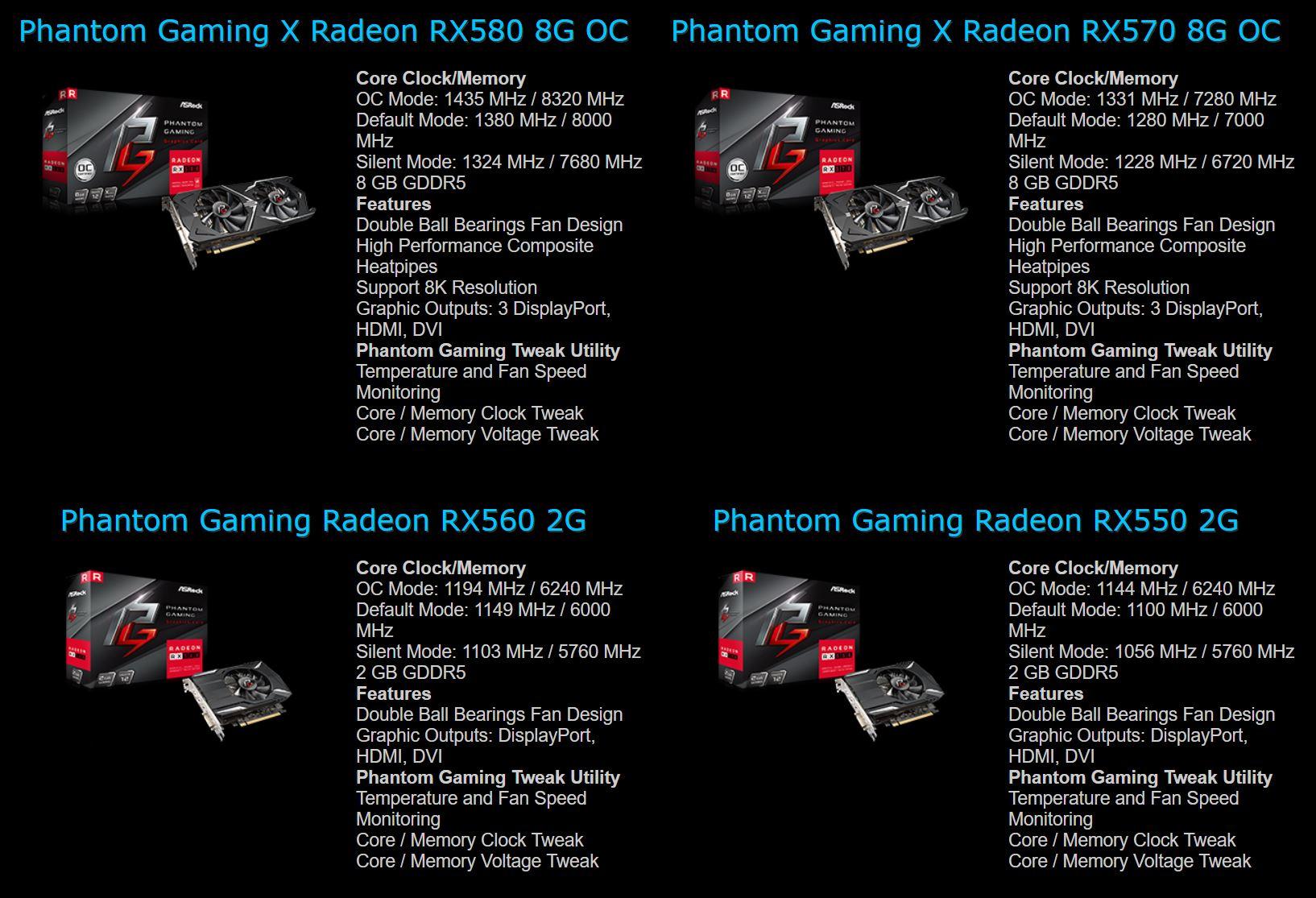 ASRock Radeon RX 500 Phantom Gaming Series leaked | VideoCardz com