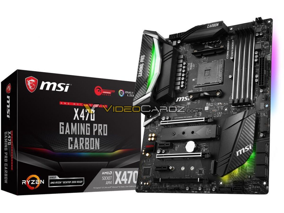 MSI X470 GAMING M7 & PRO & PLUS motherboards leaked