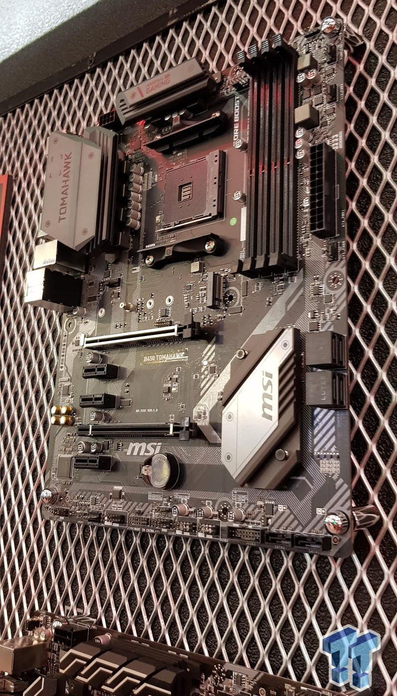 MSI B450 Tomahawk motherboard pictured - VideoCardz com