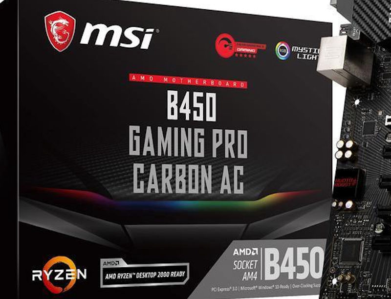 ASRock, ASUS, Gigabyte and MSI B450 motherboards pictured