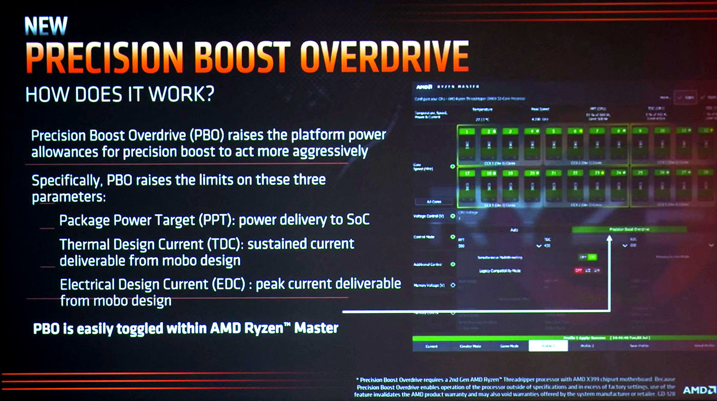 More slides from Ryzen Threadripper 2000 press briefing emerge