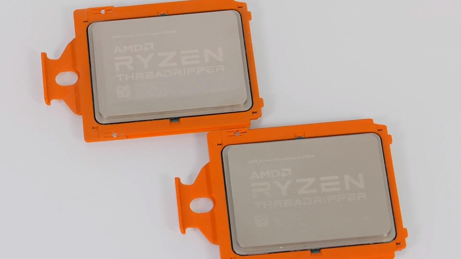 AMD Ryzen Threadripper 2990WX and Threadripper 2950X get