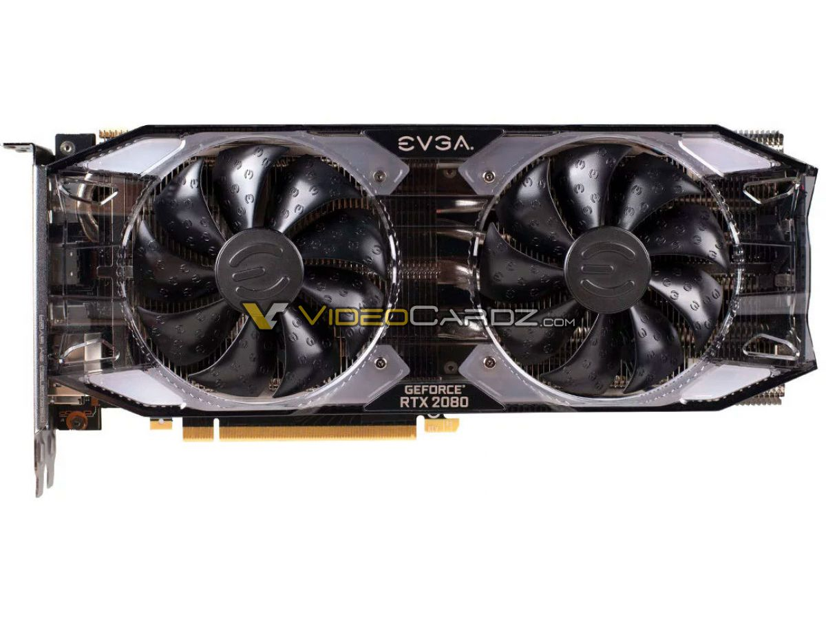 EVGA GeForce RTX 2080 XC Ultra graphics card pictured